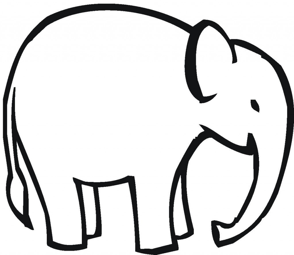 1024x891 Elephant Drawing Outline