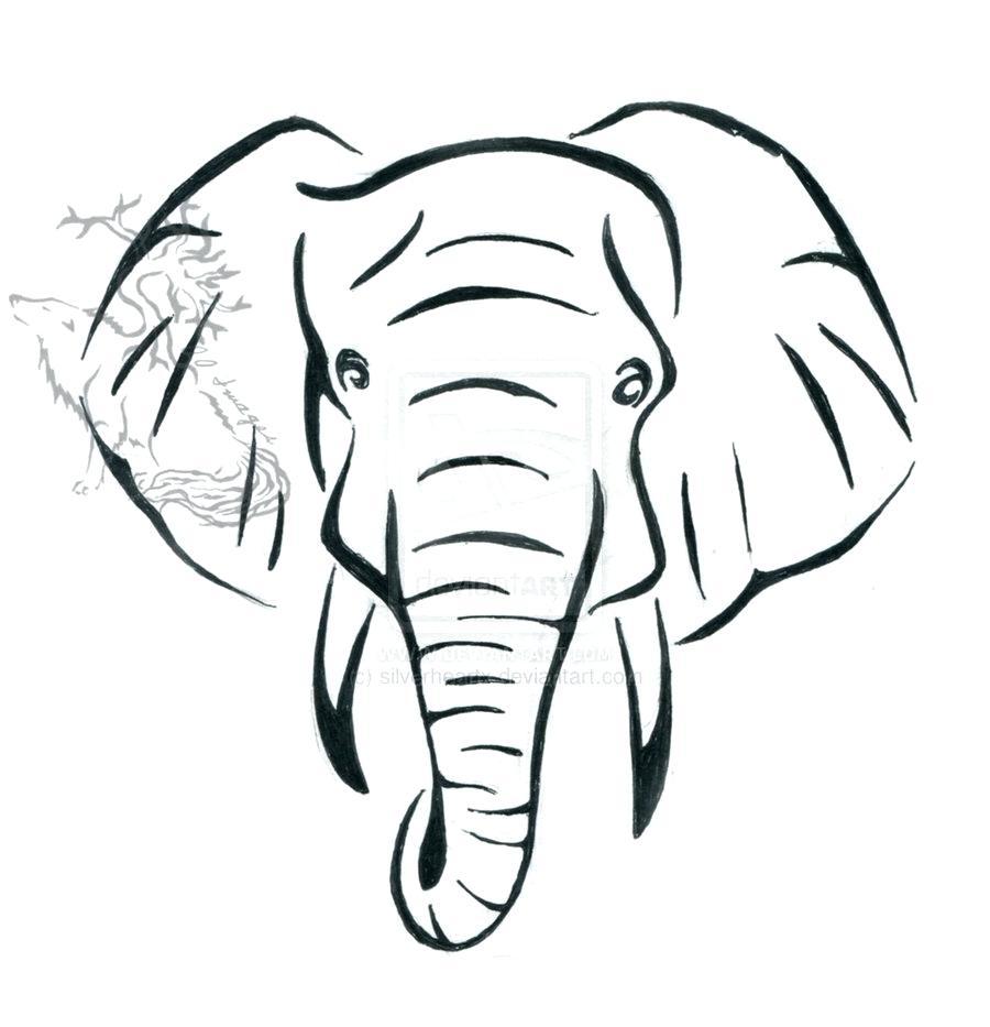 900x933 Baby Outline Elephant Head Clipart