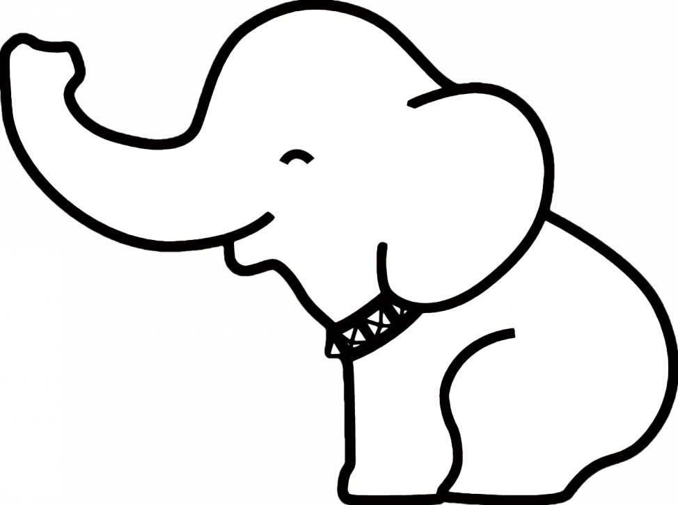 974x726 Coloring Pages Glamorous Elephant Drawing Easy Coloring Pages