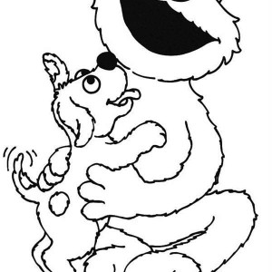 300x300 Baby Elmo Reading A Book In Sesame Street Coloring Page