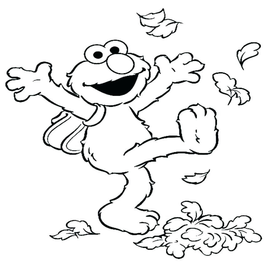878x880 Coloring Pages Of Elmo Big Smile Coloring Page Sesame Street Elmo