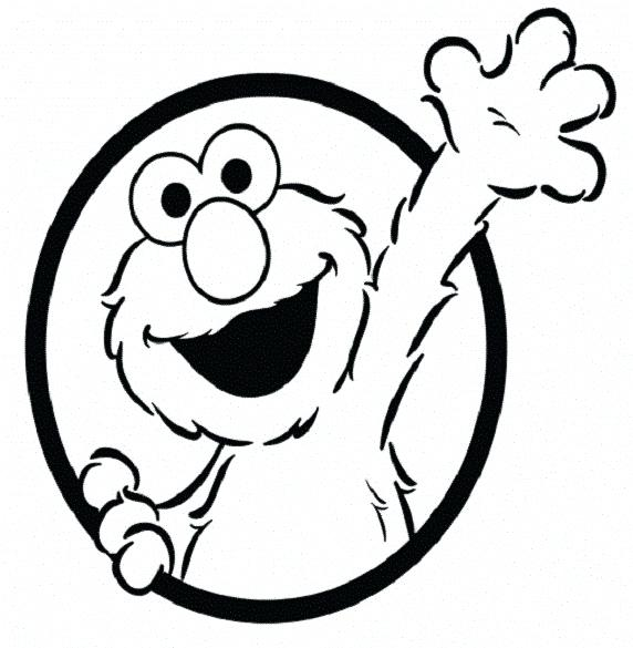 572x585 Elmo Coloring Pages 96 And Baby Coloring Pages Elmo Face Coloring