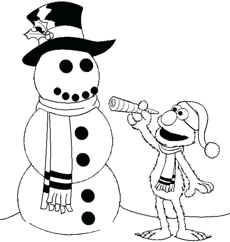 768x809 Coloring Pages Elmo