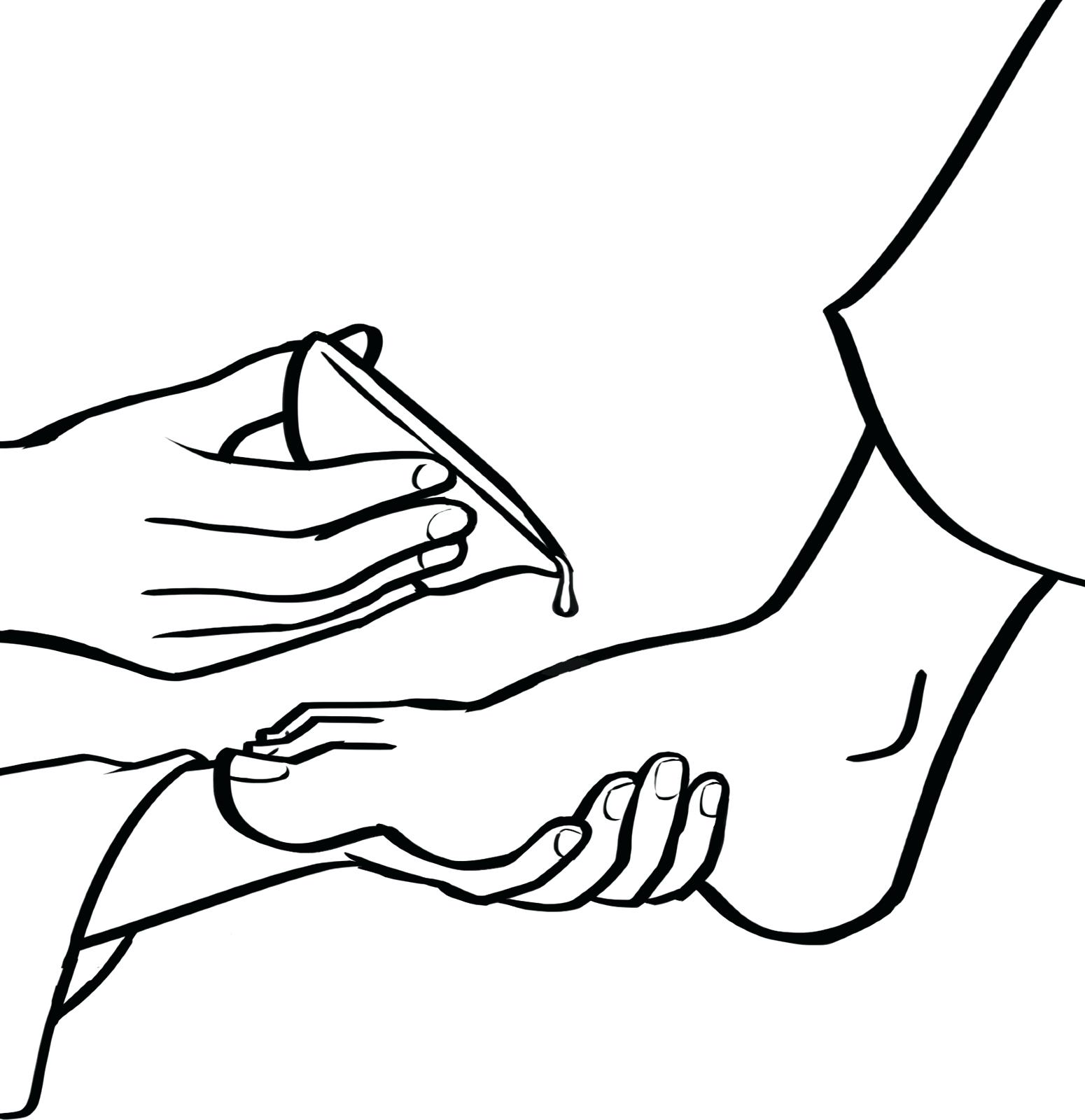 1550x1600 Foot Coloring Page