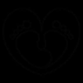 283x283 Baby Feet Heart Silhouette Silhouette Of Baby Feet Heart