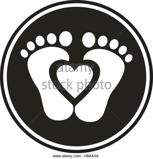 520x540 Baby Feet Stock Vector Images