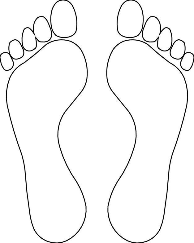 627x784 Footprint Coloring Sheet Printable Footprints
