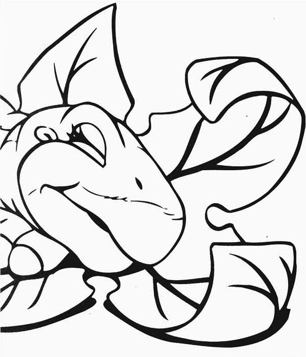 597x696 Land Before Time Family Little Foot Is Sleeping Coloring Page