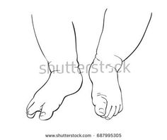 236x199 Line Art Sketch Of Baby Feet In Mother Hands, Happy Maternity