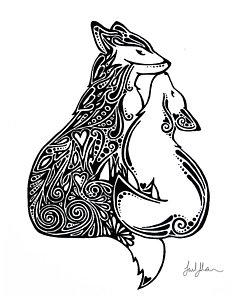240x300 Baby Fox Drawings Fine Art America