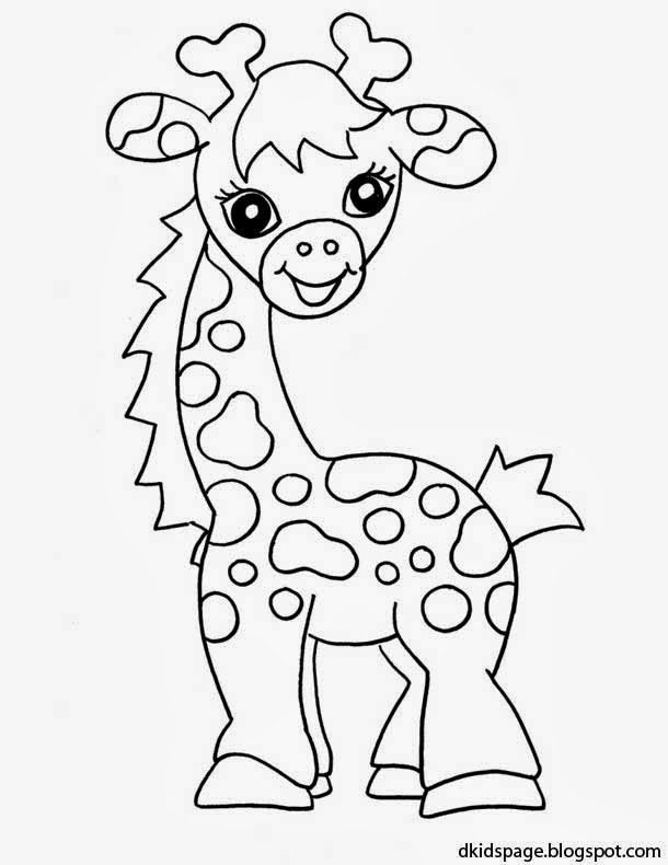 610x790 Baby Giraffe Coloring Page Free Download