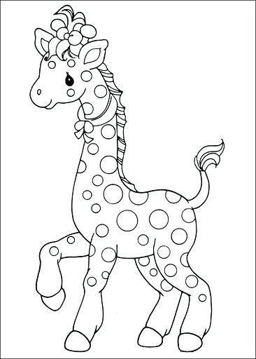 366x512 Baby Giraffe Coloring Pages In Addition To Precious Moments