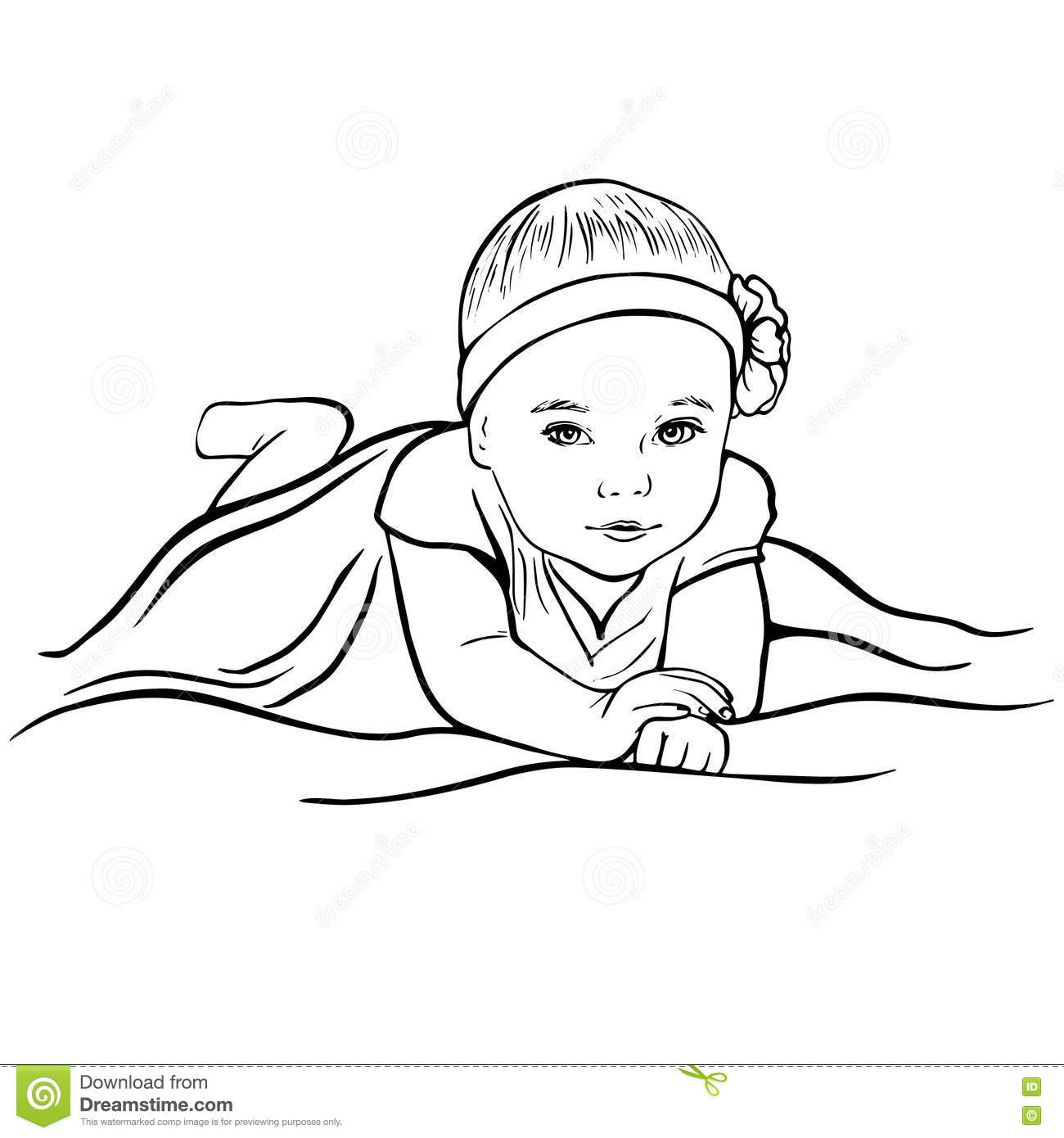 1300x1390 Baby Girl Drawing Image Drawn Baby Sketch