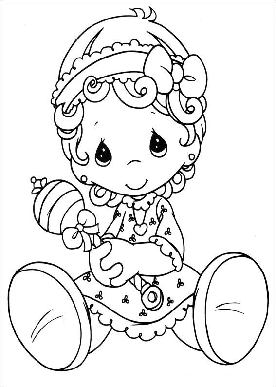 567x794 Precious Moments Baby Girl ~ Child Coloring