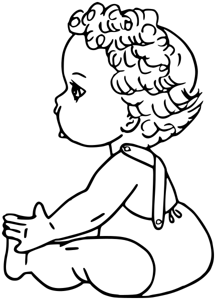 431x600 Baby Girl Outline