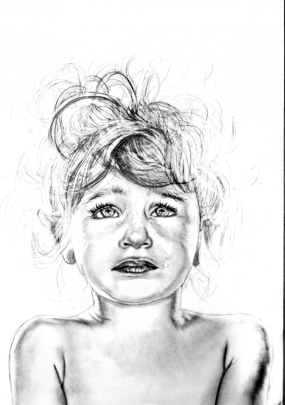 950x1349 Baby Girl Crying Sketch Best Sad Girl Drawing Ideas
