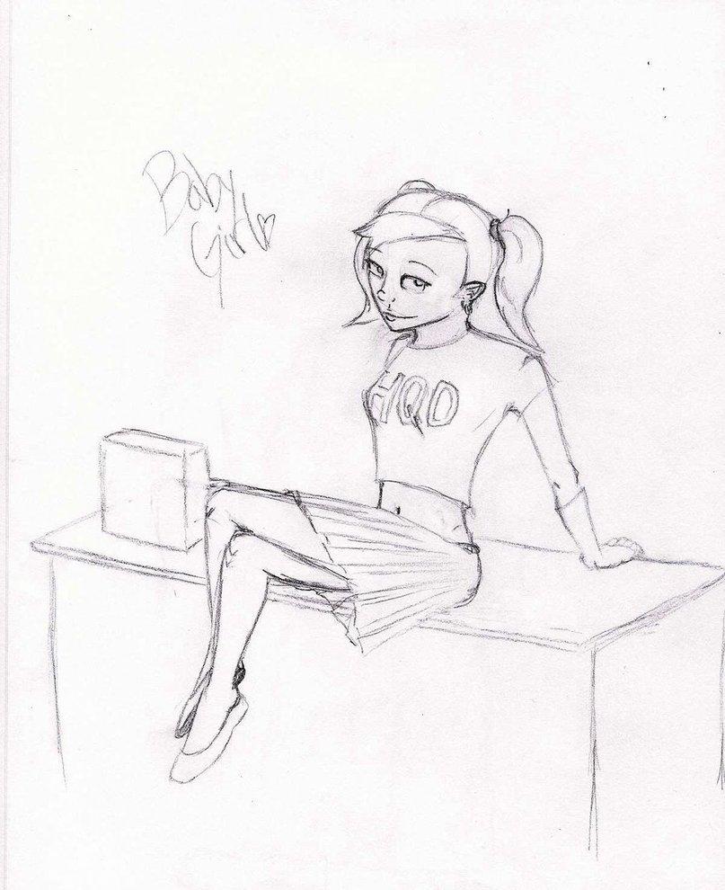 807x990 Baby Girl Sketch By Dotskip317