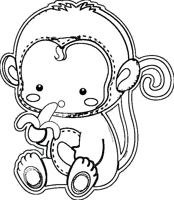 571x657 Amazing Gorilla Coloring Pages Free Download
