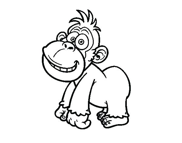 600x470 Gorilla Coloring Pages Gorilla Coloring Pages Eastern Page Cute