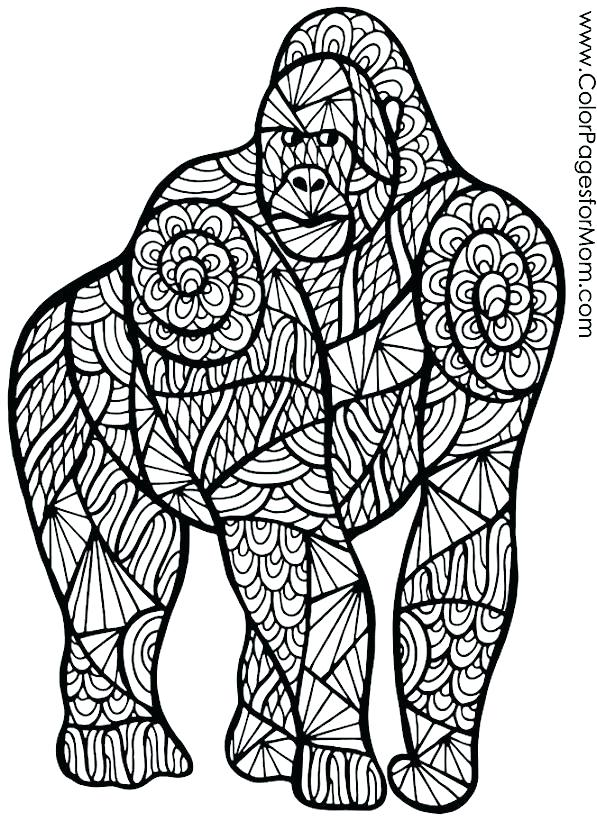 597x820 Gorilla Coloring Pages Megaproperty.club