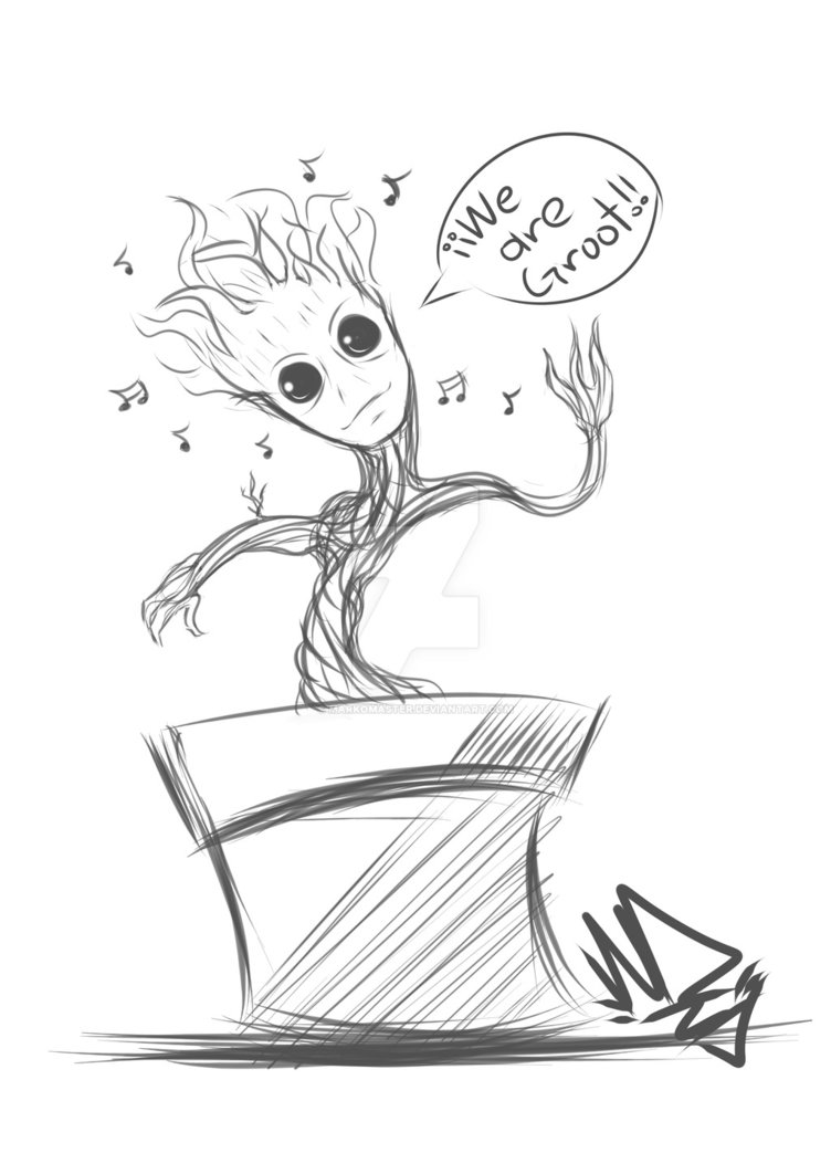 752x1062 Baby Groot By Markomaster