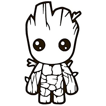350x350 Baby Groot Guardians Of The Galaxy Vinyl Sticker Decal
