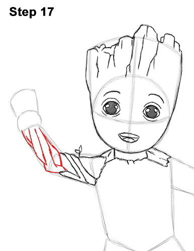 386x500 How To Draw Baby Groot