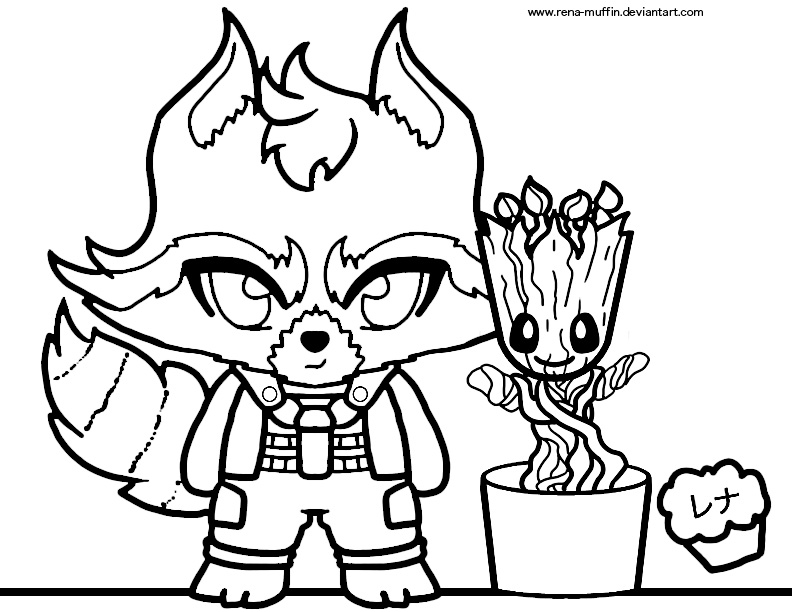 Baby Groot Drawing at GetDrawings | Free download