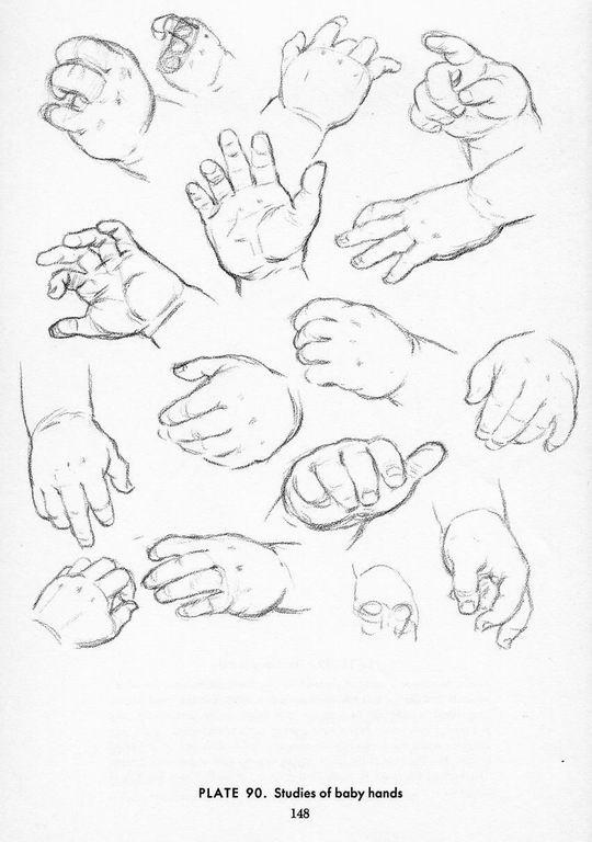 540x768 Baby Hands Study. Pose Gestures Baby Hands