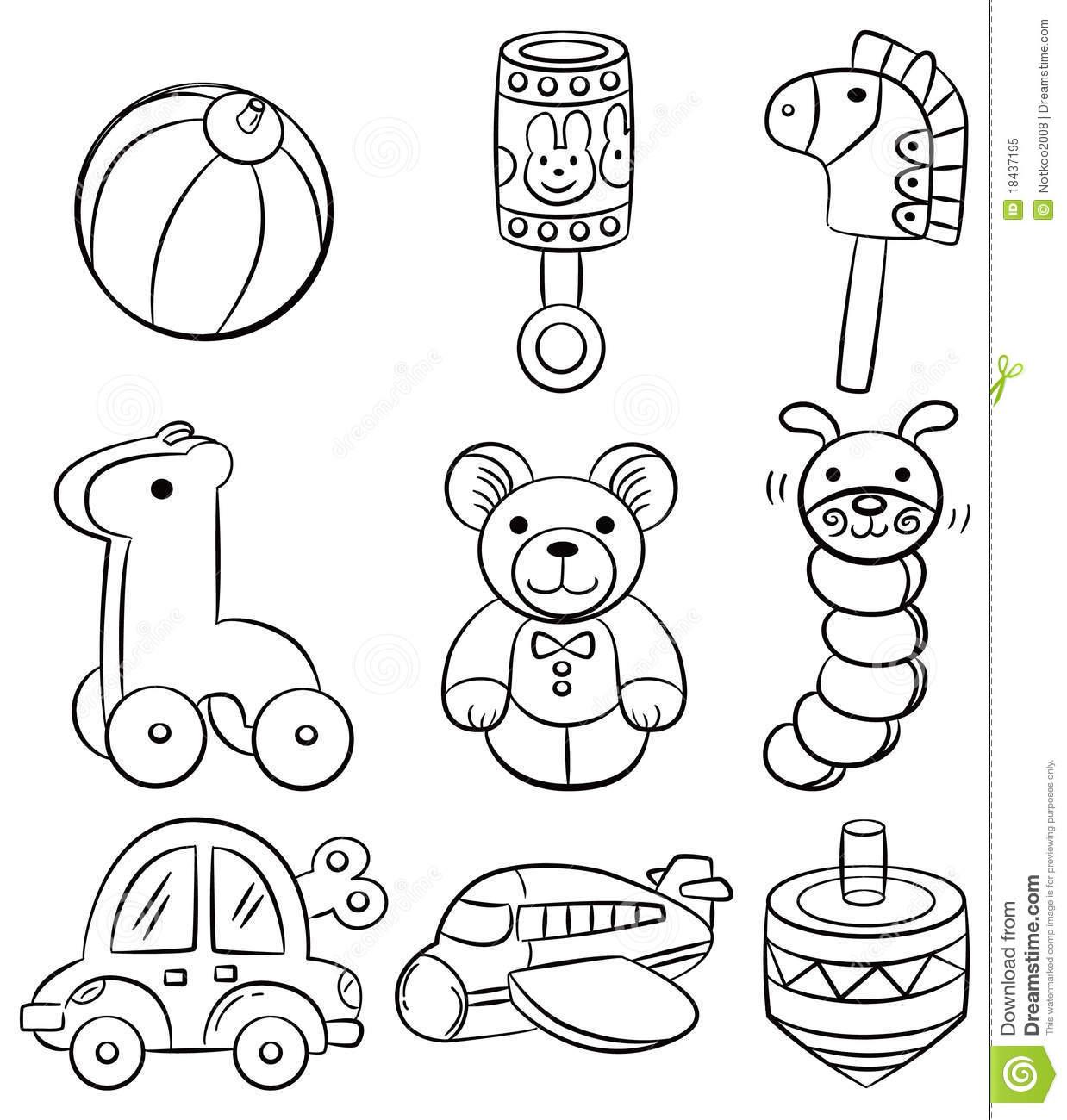 1238x1300 Cartoon Baby Drawing Hand Draw Cartoon Baby Toy Icon Royalty Free
