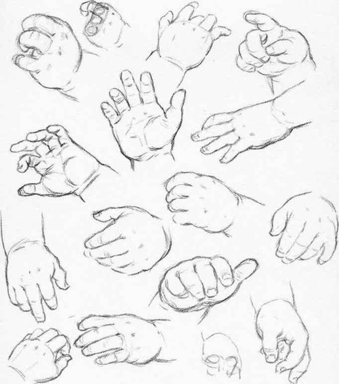 681x773 How Sketch Baby Hands How To's In Art Baby Hands