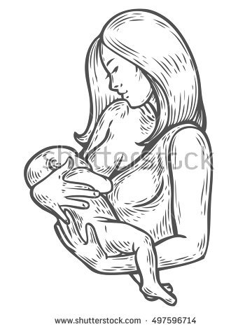 360x470 Photos Mother Holding Baby Drawing,