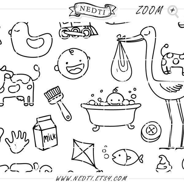 600x600 Baby Hand Drawn By Nedti