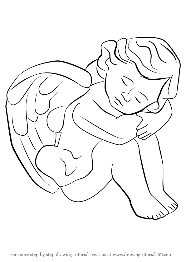 596x842 Learn How To Draw A Baby Angel (Angels) Step By Step Drawing