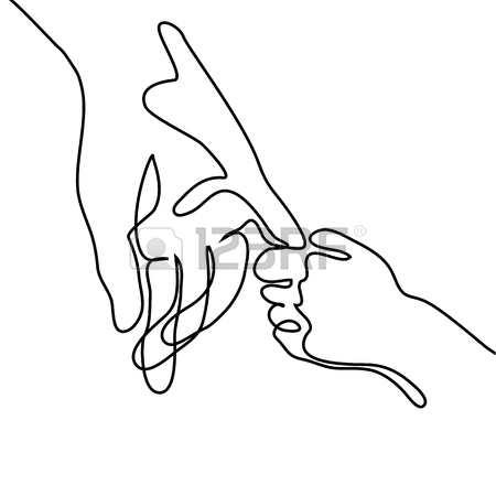 450x450 Baby Holding Little Finger Of Adult Hands Together. Continuous