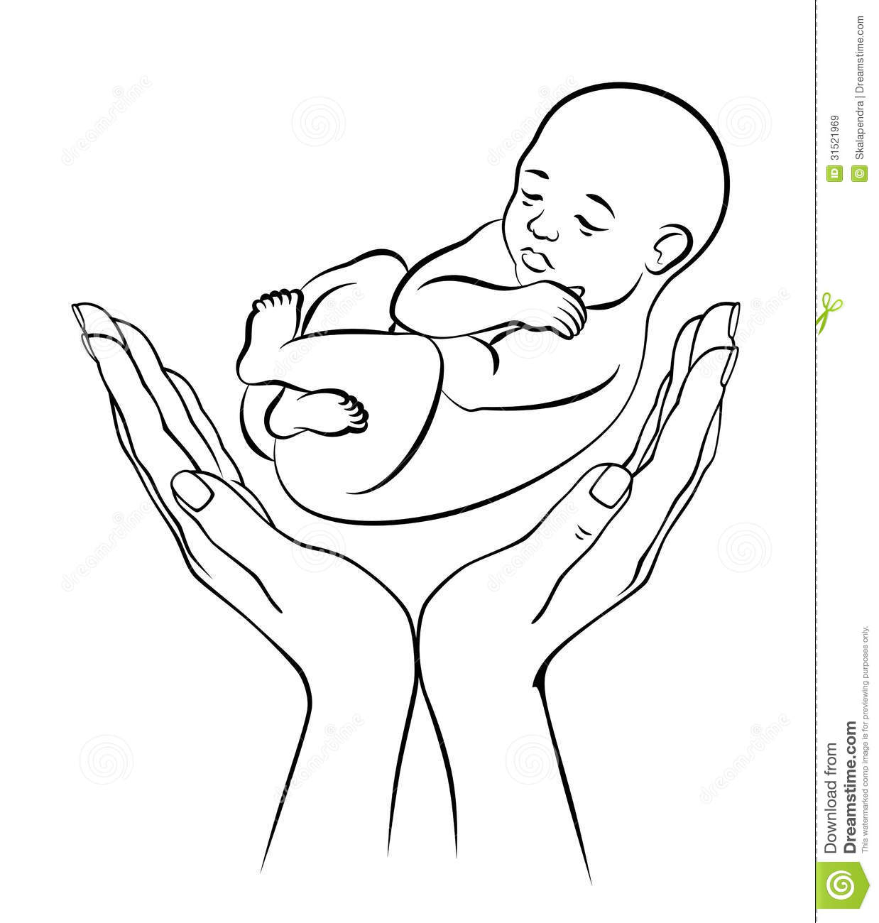 1238x1300 Baby In Hand Drawing How To Draw Hands