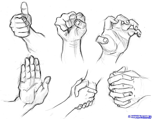 580x455 Best Collection Of Step By Step Tutorials On How To Draw Hands