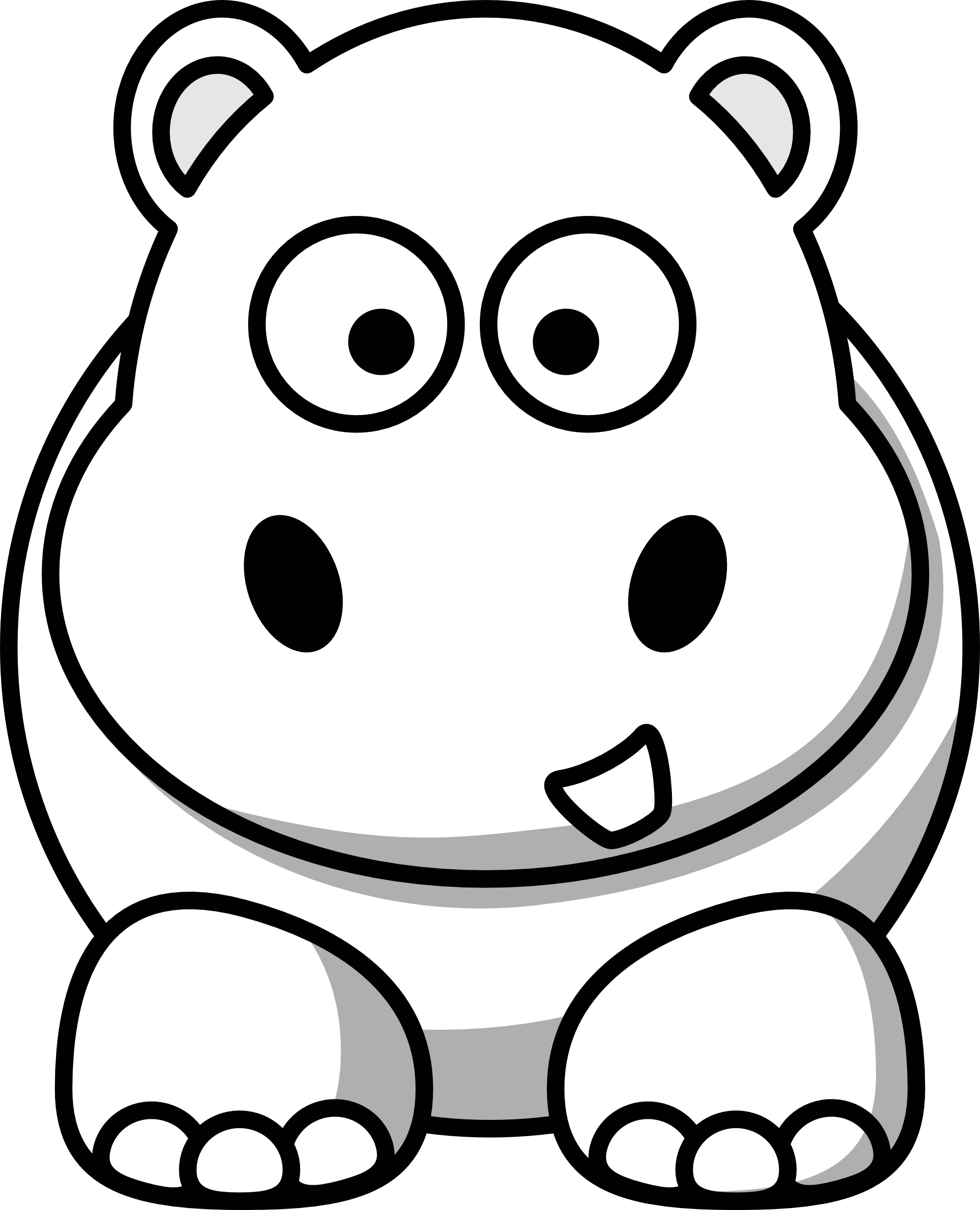 1979x2443 Cute Baby Hippo Coloring Pages Coloring Page For Kids