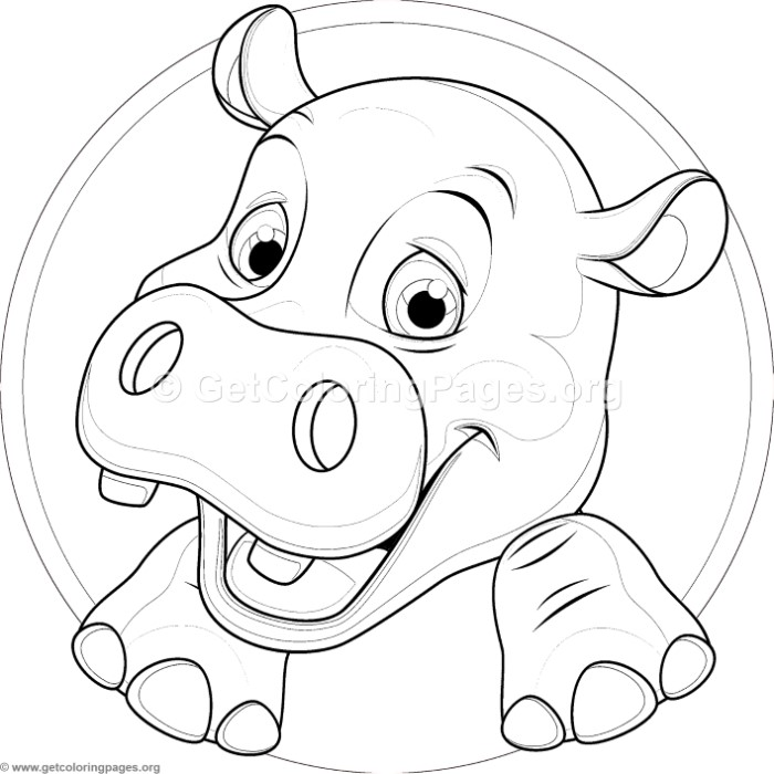 700x700 Cute Baby Hippo Coloring Pages