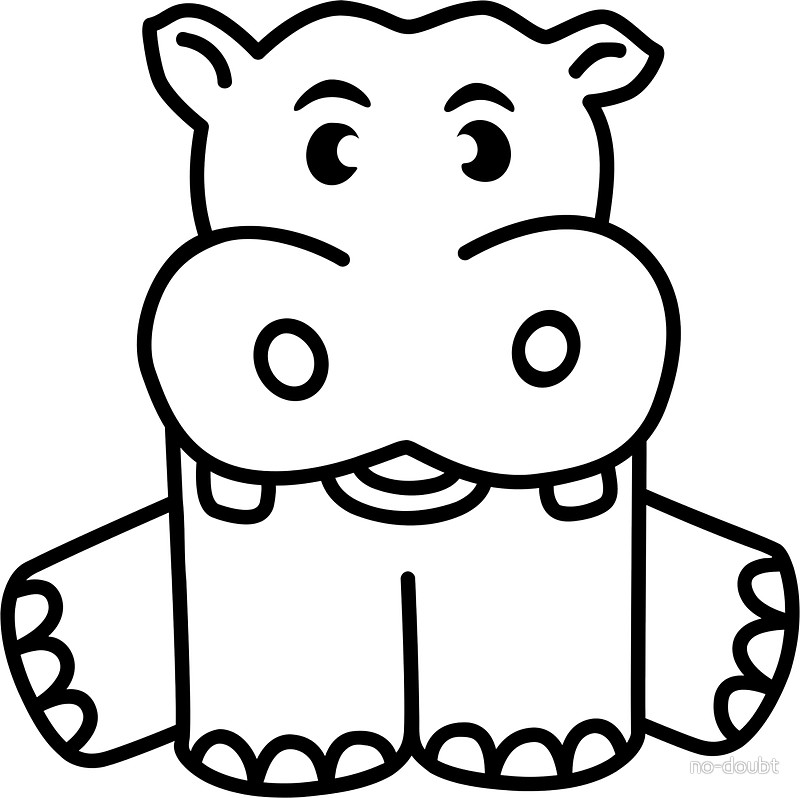 800x798 Happy Baby Hippo Stickers By No Doubt Redbubble
