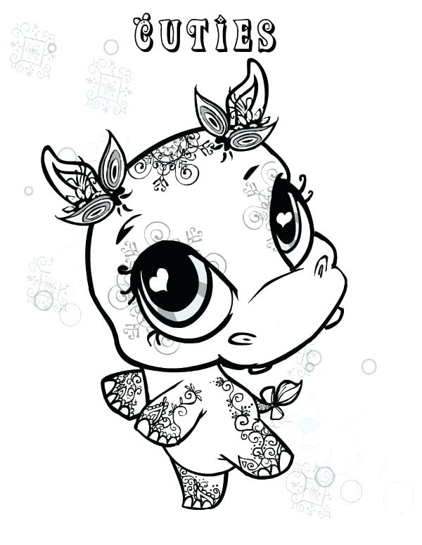 600x776 Hippo Coloring Page Little Cute Hippo Coloring Page Cute Baby
