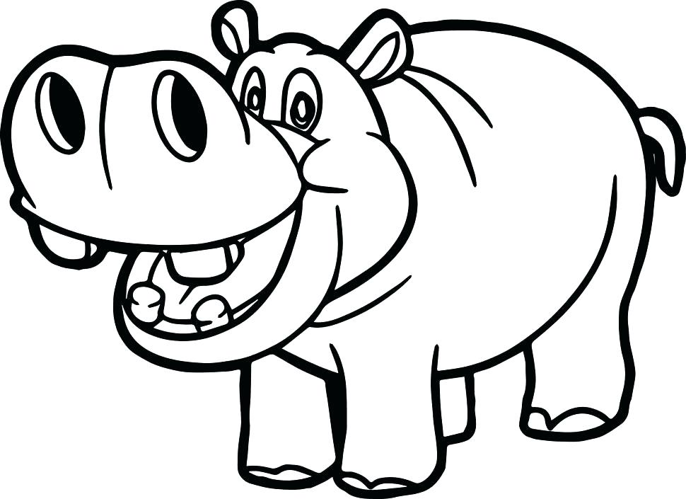 970x705 Top Rated Hippo Coloring Pages Pictures Baby Hippo With Mother