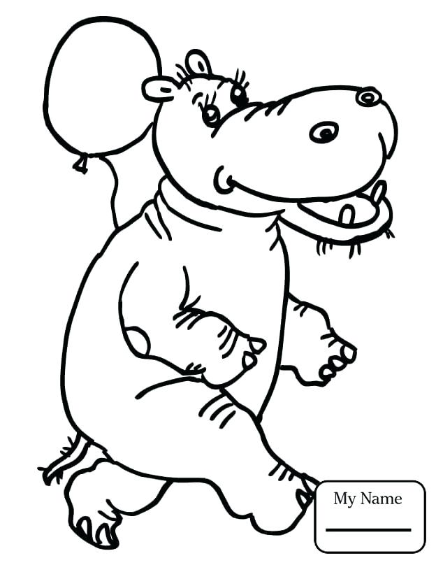 624x808 Baby Hippo Coloring Pages