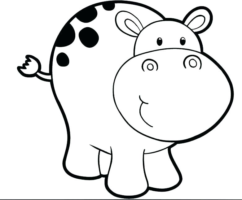 781x646 Baby Hippo Coloring Pages Cute Hippo Baby Coloring Page Cute Baby
