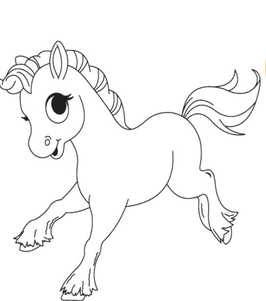 542x614 Trend Baby Horses Coloring Pages With Additional Free Cute Horse