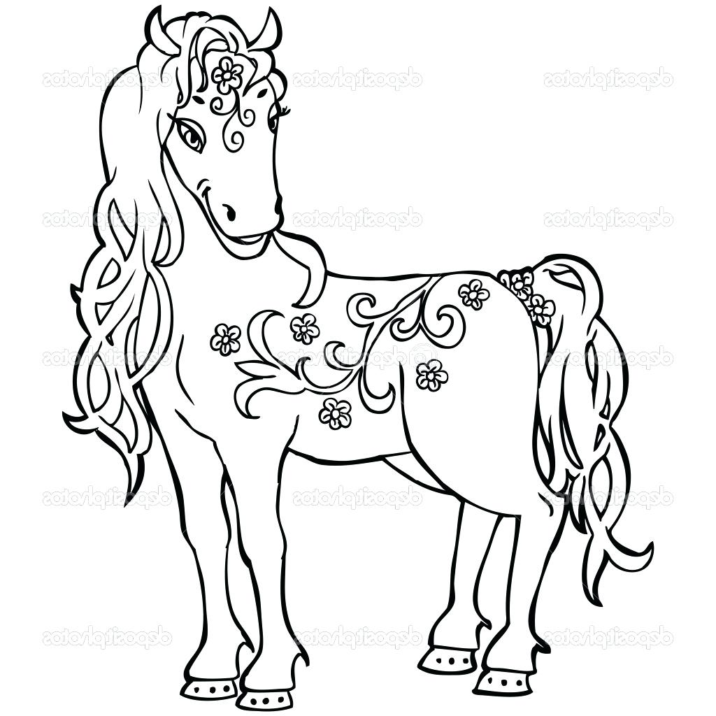 1024x1024 Coloring Baby Horses Coloring Pages Line Drawing Animals Library