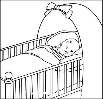 350x337 Baby Sleeping In Crib Clipart