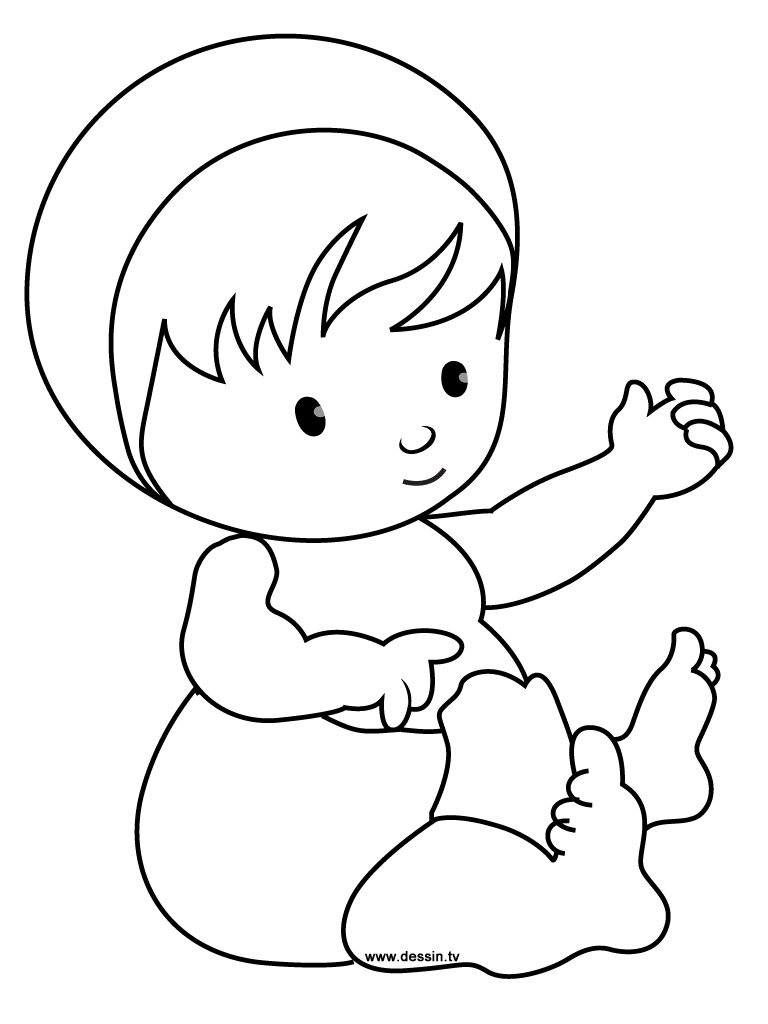 768x1024 Simple Color Baby Coloring Pages To Print For Kids Baby