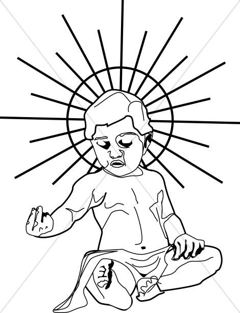 470x612 Line Drawn Baby Jesus Baby Jesus Clipart