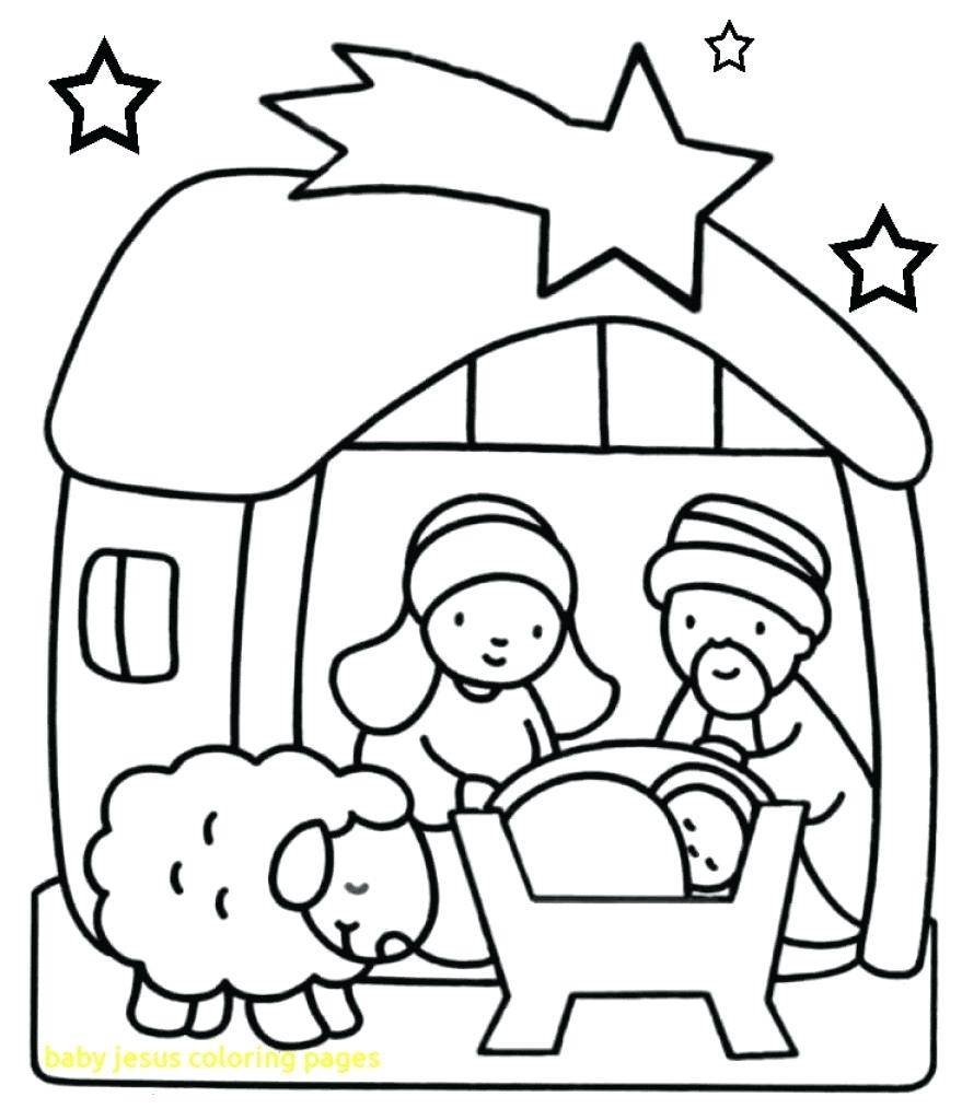 879x1024 Printable Printable Baby Jesus Coloring Pages With Covered Body